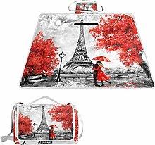 ALAZA - Manta rectangular impermeable para picnic,