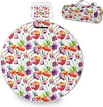 ALAZA Manta redonda impermeable para picnic,