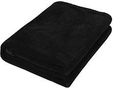 ALBBMY Mantas de 45x65 cm, Color Negro sólido,