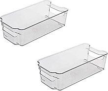 ALEMOK Pack de 2 Cajas Organizadoras de Nevera,