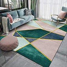 Alfombra alfombra de moda nórdico simple rosa