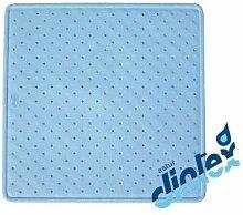 Alfombra Baño Antideslizante 54X54Cm Ducha Azul