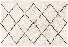 Alfombra bereber de lana y algodón 140x200