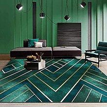 Alfombra de alfombra ligera moderna Línea de oro