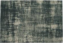 Alfombra de algodón azul 140 x 200 cm