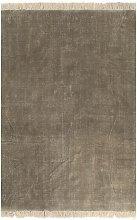 Alfombra de algodon Kilim 120x180 gris topo