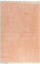 Alfombra de algodon Kilim 160x230 cm rosa