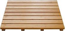 Alfombra de baño Grating Nature de madera 52x52