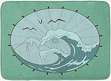 Alfombra de baño japonesa, sombrilla asiática