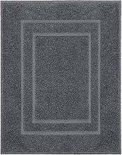 Alfombra de baño Plaza gris oscuro 60x80 cm -