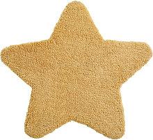 Alfombra de estrella amarillo mostaza 100x100