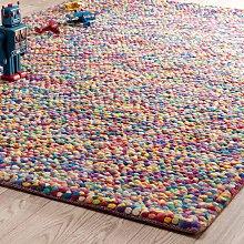 Alfombra de lana de colores 140 x 200cm