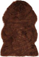 Alfombra de piel de oveja sintética marrón 60x90