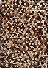 Alfombra de Retazos de Cuero Triángulos 80x150cm