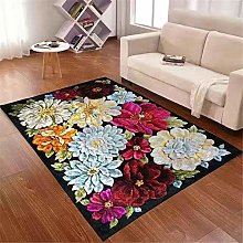 Alfombra habitación,Patrón Floral, Silla de