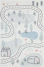 Alfombra infantil motivo carretera 100 x 150 cm