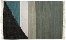 Alfombra kilim tejida a mano de algodón MYCENE -