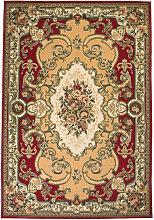 Alfombra oriental de estampado persa rojo/beige
