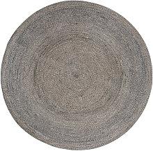 Alfombra redonda de yute D180