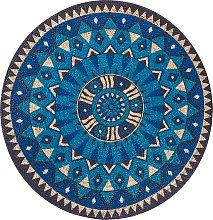 Alfombra redonda de yute multicolor ⌀140 cm UNUR