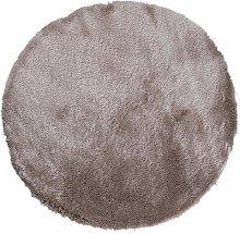 Alfombra redonda shaggy DOLCE - Topo con reflejos