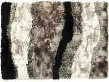Alfombra shaggy ECUME - Poliéster - 140x200 cm