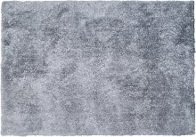 Alfombra shaggy GLITTER 160x230 cm - Plateada