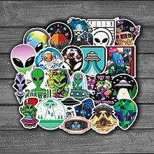 Aliens Ufo - Pegatinas de dibujos animados para