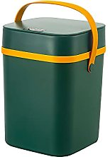 ALLOMN Cubo de basura ecológico de 10 L con tapa