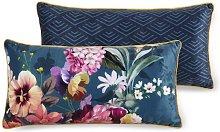 Almohada decorativa NOVARA 30x60 cm petróleo -