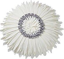 Almohada redonda de crisantemo con costuras de