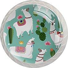 Alpaca - Pomos para cajones de aparador (cristal,