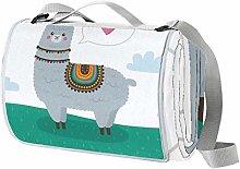 Alpaca With Love - Manta impermeable para pícnic,