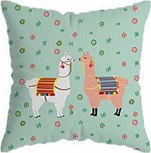 Alpacas Throw Decorativo Caso De La Cubierta De La