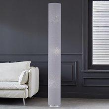 Altura 156 cm - Lámpara de pie textil Thor en gris