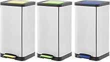 Amazon Basics - Cubo de basura, 3 unidades, con 3