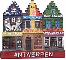 Amberes Bélgica 3D Imán de Refrigerador