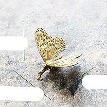 Americano europeo Retro Latón Mariposa pequeña