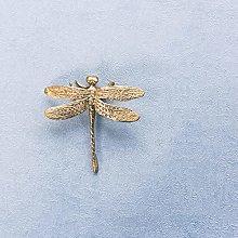 Americano europeo Retro Latón Pequeña mariposa