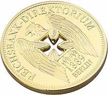 Amosfun Monedas conmemorativas chapadas en Oro del