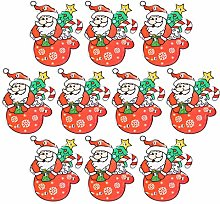 Amosfun Navidad led broche alfileres santa claus