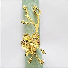 Anillo de servilleta de orquídea Anillo de tela