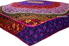 ANJANIYA – Funda de almohada cuadrada grande