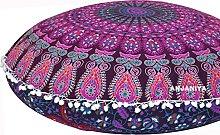 ANJANIYA - Funda de almohada de piso para
