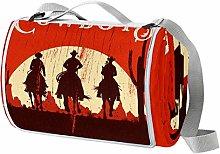 Anmarco Cobija de picnic de madera roja con