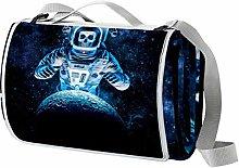 Anmarco Manta de picnic con astronauta de
