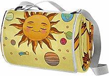Anmarco Manta de picnic con estrellas y planetas