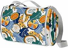 Anmarco Manta impermeable para picnic, plegable,