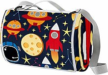 Anmarco Space Stars Planets with Rockets Manta de