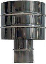 Antirrevocante estufa pellet Ø80mm inox exojo